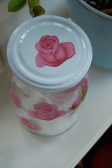 Rose lid for glas jar