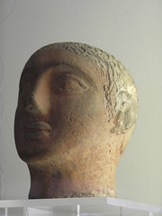 Etruscan ceramic head, Vatican Museum