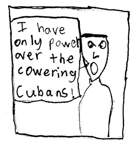 cowering cubans