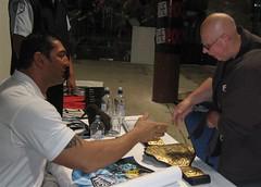 Damian meets the WWE wrestler Batista