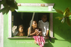 Crianças na janela
