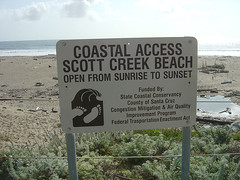Scott Creek Sign