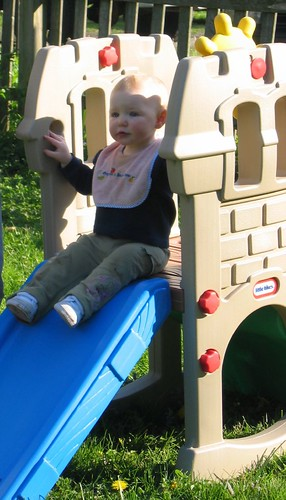 Playing on our new slide