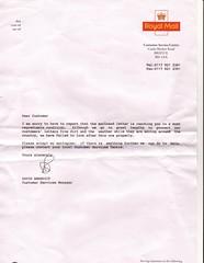 royal mail letter