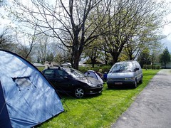 Our campsite at La Ferme camping ground