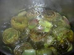 Carciofi ripieni di riso con vellutata alla menta piperita-3