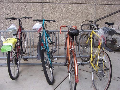 Un plástico para la bici