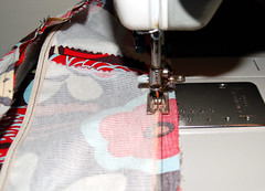 stitching the waist seam