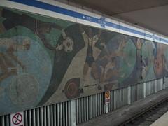 Sports motif in the metro