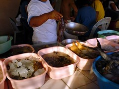 Fresh seafood at the sutukil restaurants in Mactan island.