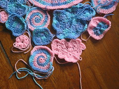 Freeform Doll Blanket - in progress