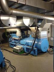 Ein leistungsfähiger Diesel-Generator sorgt für Ausfall-Sicherheit im Strom-Netz