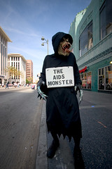 the AIDS monster photo by Orrin