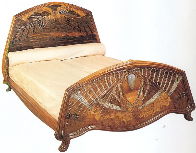 Art deco mille gall aube et cr puscule bed 1900 - Art deco et art nouveau ...