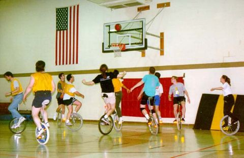 Unicycle basketball