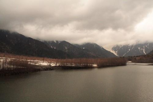 大正池與穗高連峰