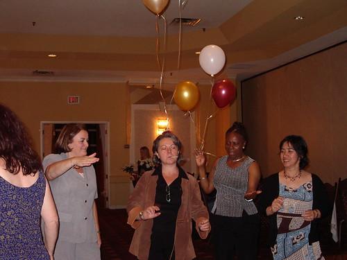 End of Party, senior nurses dance