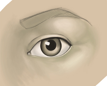 My first digital painting... need help with skin. pointers? Direction? Feedback?