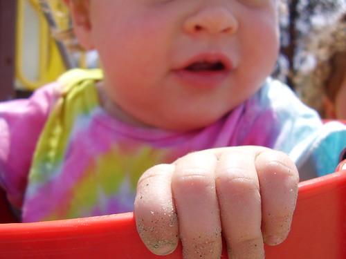 sandy hand
