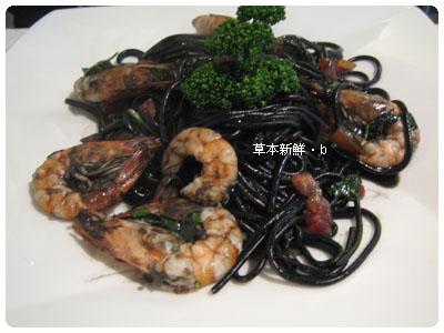 鮮蝦墨�麵
