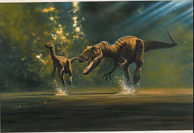 Camptosaurus attacked