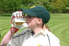 Jenny preparing to bat