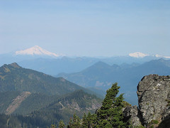 Mt Baker And Mt Shuksan From White Chuck Mtn
