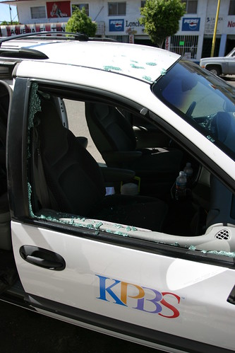 KPBS Van Broken Window