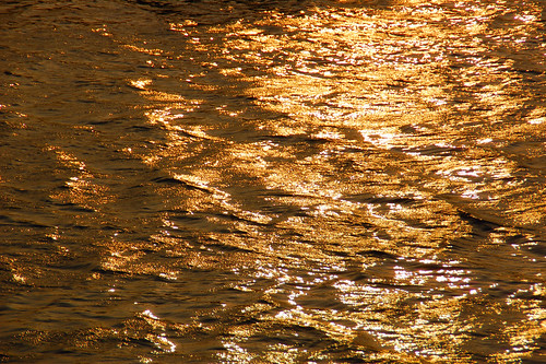 brilliant water surface