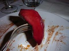 Peach soaked in Chianti