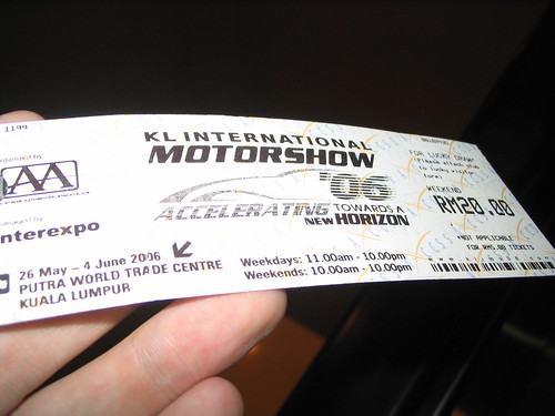 KL Motorshow Ticket