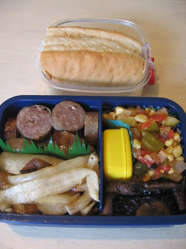 Beaming in: sandwich bento