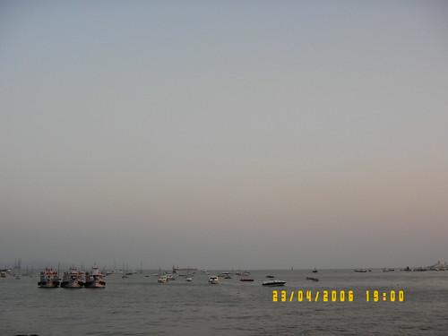 The Mumbai Harbor at The Gateway of India
