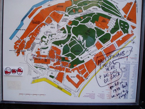 Jaffa city Map - Note the Graffiti