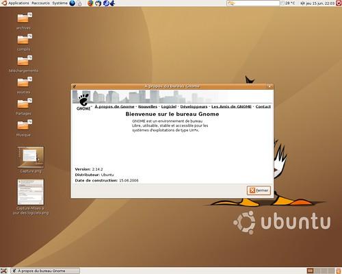 Gnome 2.14.2 pour Ubuntu Dapper Drake