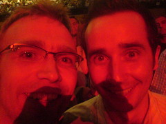 Andrew and Mat at The Who gig, Brighton Centre, 18 June 2006