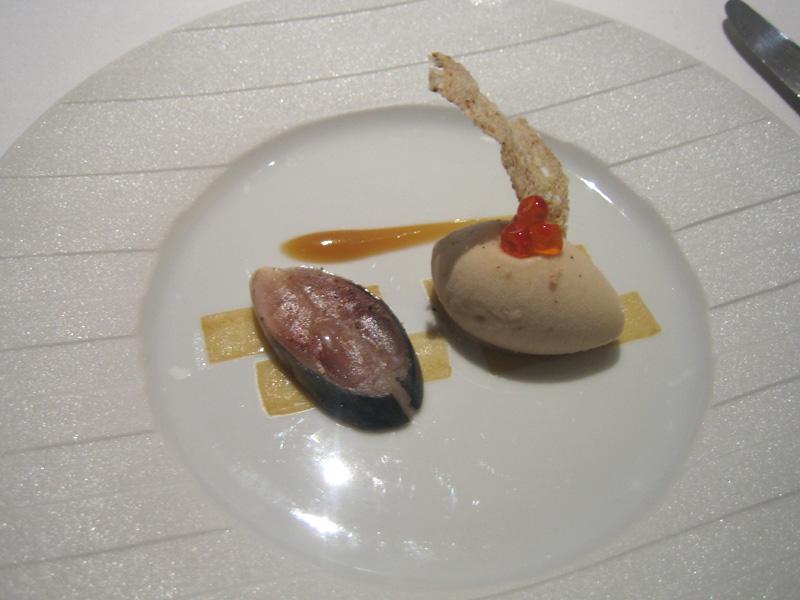 Fat Duck - Sardine on Toast Sorbet w/ Ballotine of Mackerel Invertebrate & Marined Daikon