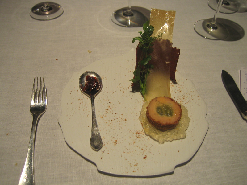 Tom Aikens - Foie w/ Apple/Gingerbread Crumbs + Apple Gelee