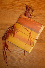 Distressed paper bag mini-book