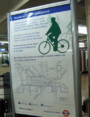 Bicycles on the London Underground Poster