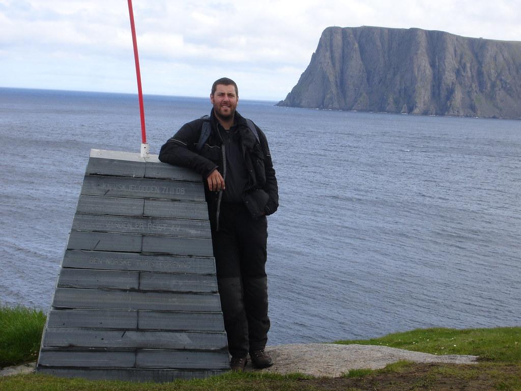 Peter at Knivskjellodden, Norway