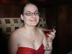 Christina and her raspberry martini