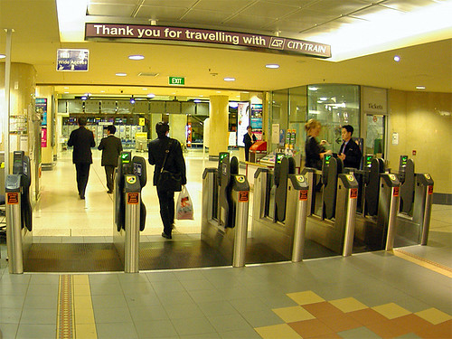 Ticket Gate Roma Steet Station