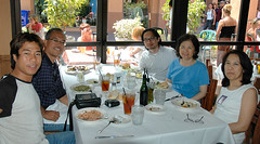 Lunch with Jeff's family at Piccolino's, Napa Town Center