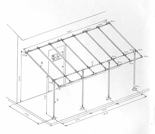 Awning Frame on attached carport ideas
