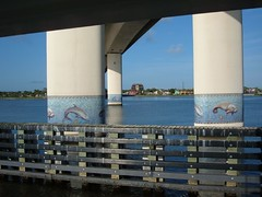 Mosaic Tiles on Bridge in Daytona Beach