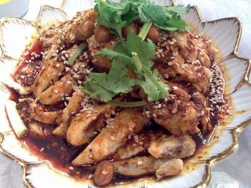Some might call it saliva chicken, but these guys call it Marinated Chicken in Sichuan Style