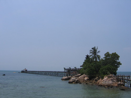 view of the island/pier