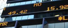 Morgan Stanley ticker, Times Square photo by Dan_DC