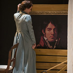 Kate Fry (Hedda) in HEDDA GABLER at Writers Theatre.  Photo by Michael Brosilow.